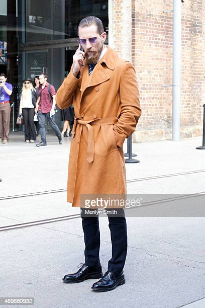 Buying Director for MyTheresacom Justin O'Shea seen at MercedesBenz Fashion Week Australia 2015 at Carriageworks on April 13 2015 in Sydney Australia