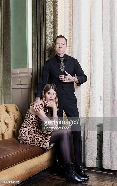 Buying director of Mytheresa Justin O'Shea and Founder of HeyWoman Veronika Heilbrunner are photographed for The Guardian Newspaper on June 5 2015 in...