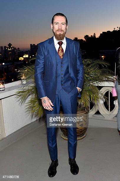 Buying director of mytheresacom Justin O'Shea attends Christopher Kane x mytheresacom dinner at Chateau Marmont on April 28 2014 in Los Angeles CA