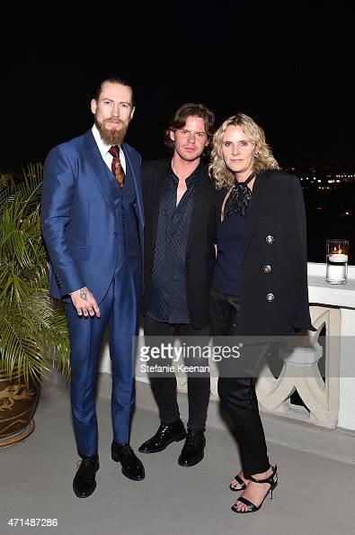 Buying director of mytheresacom Justin O'Shea creative director Christopher Kane and CEO of Christopher Kane Sarah Crook attend Christopher Kane x...