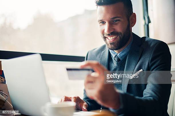 Buying online on the laptop