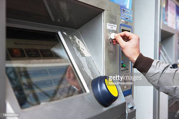 Buying ticket from an automated machine