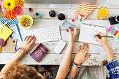 Buying Ticket Planning Agenda Travel Concept