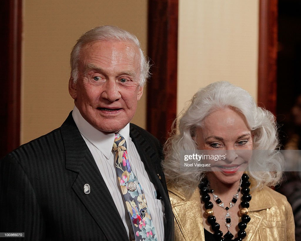 Buzz Aldrin (L) and Lois Aldrin attend the 25th anniversary of Cedars-Sinai Sports Spectacular Hyatt Regency Century Plaza on May 23, 2010 in Century City, California.