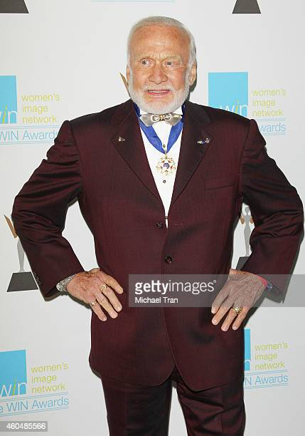 Buzz Aldrin arrives at the 16th Annual Women's Image Awards held at Beverly Hills Women's Club on December 14 2014 in Beverly Hills California