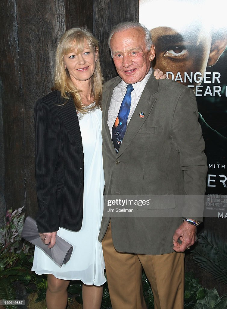 <a gi-track='captionPersonalityLinkClicked' href=/galleries/search?phrase=Buzz+Aldrin&family=editorial&specificpeople=90480 ng-click='$event.stopPropagation()'>Buzz Aldrin</a> attends the 'After Earth' premiere at the Ziegfeld Theater on May 29, 2013 in New York City.