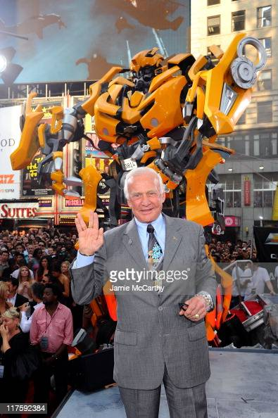 Buzz Aldrin attends the 'Transformers Dark Of The Moon' premiere in Times Square on June 28 2011 in New York City