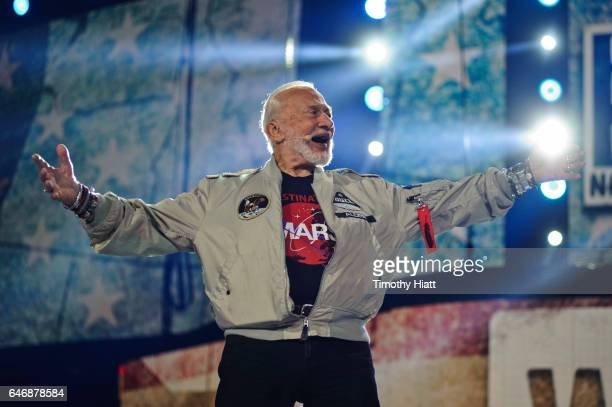 Buzz Aldrin attends WE Day Illinois 2017 at Allstate Arena on March 1 2017 in Rosemont Illinois