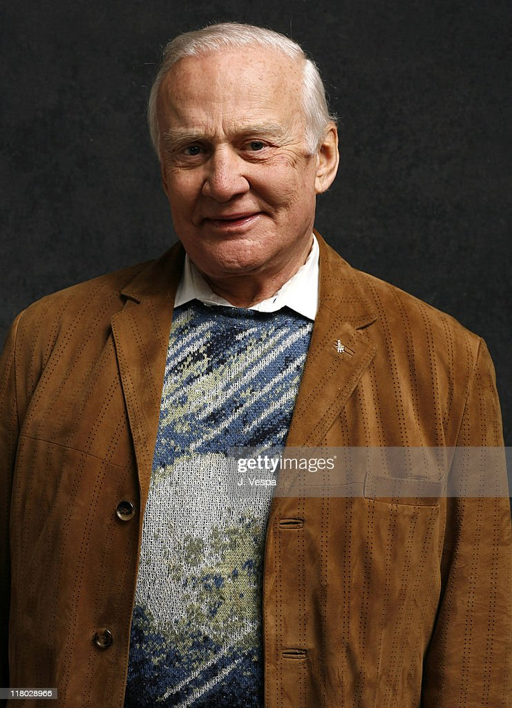 <a gi-track='captionPersonalityLinkClicked' href=/galleries/search?phrase=Buzz+Aldrin&family=editorial&specificpeople=90480 ng-click='$event.stopPropagation()'>Buzz Aldrin</a> during 2007 Sundance Film Festival - 'In The Shadow of The Moon' Portraits at Delta Sky Lodge in Park City, Utah, United States.