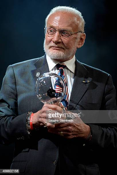 Buzz Aldrin is honored with the 'Steiger Award 2014' at Heinrichshuette on October 3 2014 in Hattingen Germany