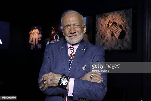 Buzz Aldrin photographed before Cocktails In Space night at OMEGA House Rio 2016 on August 10 2016 in Rio de Janeiro Brazil