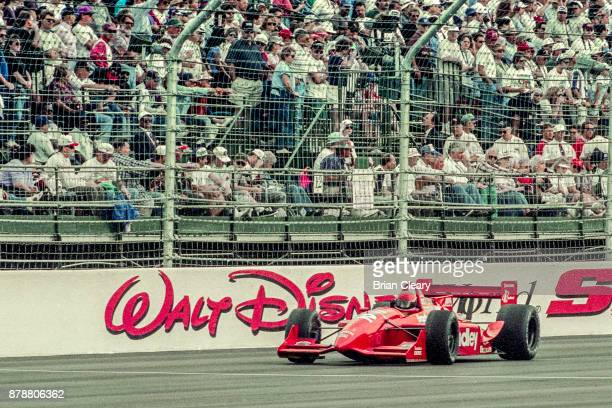 Buzz Calkins drives the Reynard Ford Cosworth on the track during the Indy 200 Indy Racing League IRL race at Walt Disney World Speedway Speedway on...