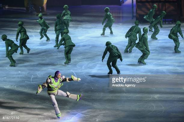 Buzz Lightyear character performs during the Disney on Ice show at Tauron Arena Krakow Poland on the November 17 2017 Disney on Ice is a show through...