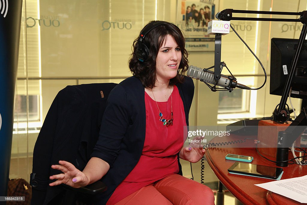 Buzzfeed Celebrity Editor Whitney Jefferson appears on 'Dirty Pop with Lance Bass' at SiriusXM Studios on April 2, 2013 in New York City.