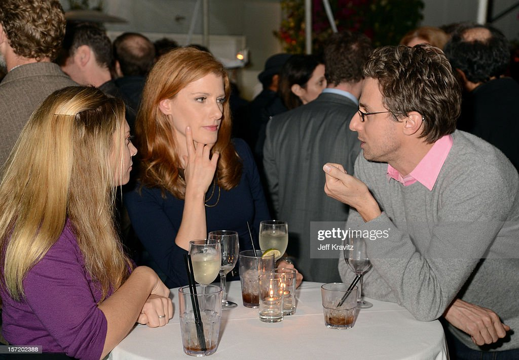 BuzzFeed CEO and founder Jonah Peretti (R) and guests attend BuzzFeed's Los Angeles Bureau Party at SkyBar at the Mondrian Los Angeles on November 29, 2012 in West Hollywood, California.