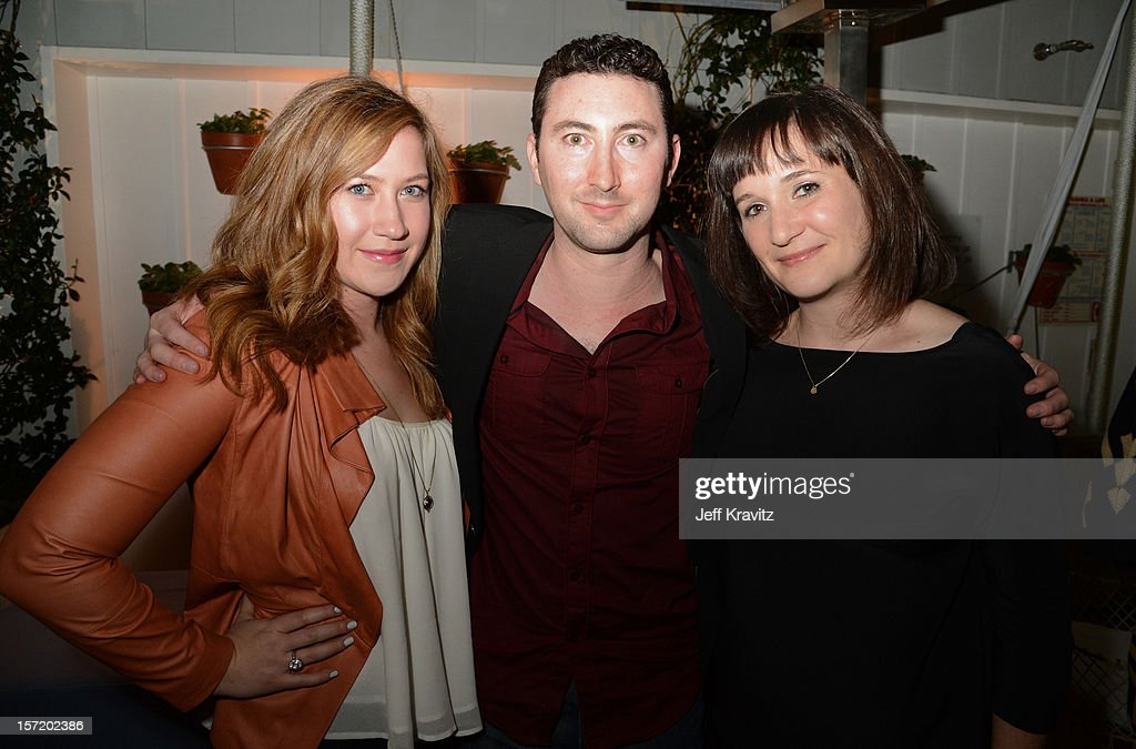 BuzzFeed executive editor Doree Shafrir (R) and guests attend BuzzFeed's Los Angeles Bureau Party at SkyBar at the Mondrian Los Angeles on November 29, 2012 in West Hollywood, California.