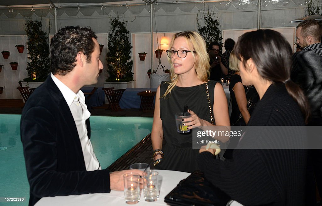 BuzzFeed president and COO Jon Steinberg (L) and guests attend BuzzFeed's Los Angeles Bureau Party at SkyBar at the Mondrian Los Angeles on November 29, 2012 in West Hollywood, California.