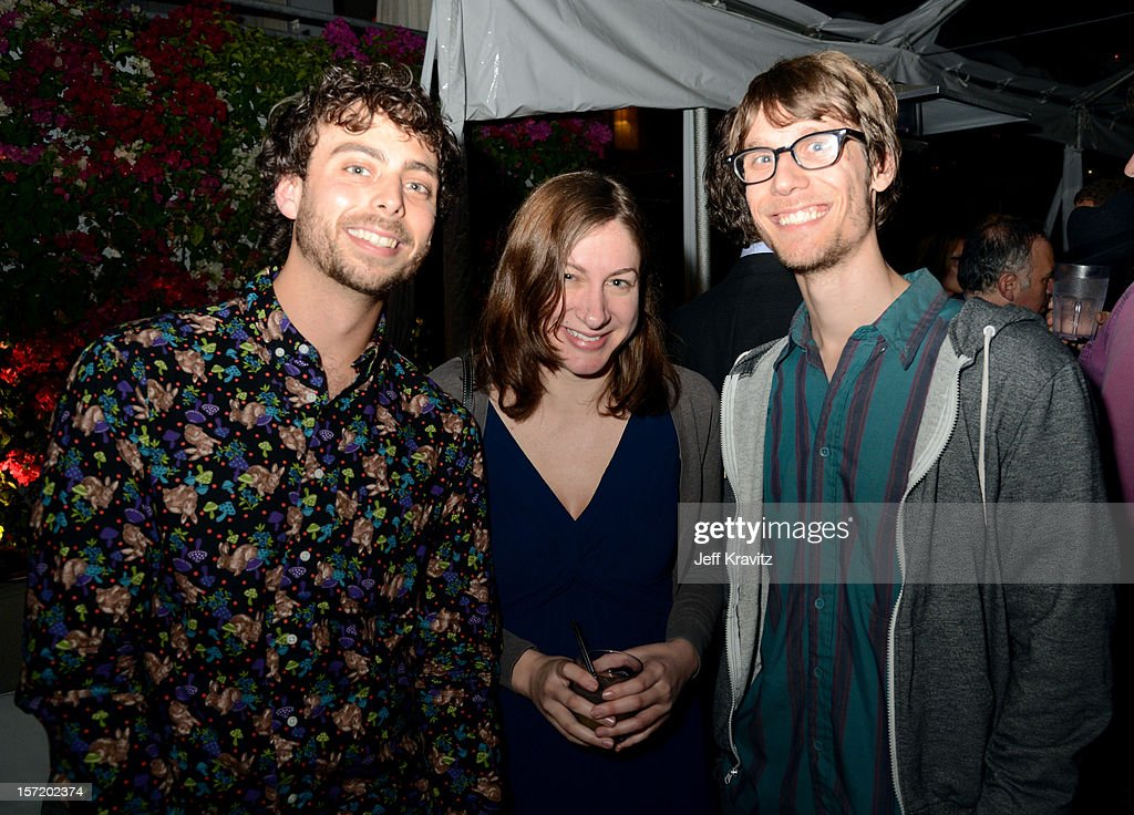 BuzzFeed senior editor Matt Stopera (L) and guests attend BuzzFeed's Los Angeles Bureau Party at SkyBar at the Mondrian Los Angeles on November 29, 2012 in West Hollywood, California.