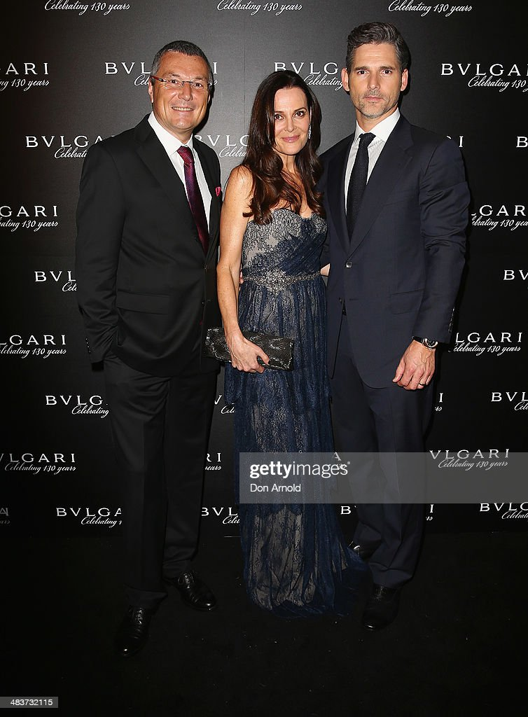 Bvlgari CEO <a gi-track='captionPersonalityLinkClicked' href=/galleries/search?phrase=Jean-Christophe+Babin&family=editorial&specificpeople=2627159 ng-click='$event.stopPropagation()'>Jean-Christophe Babin</a> poses alongside <a gi-track='captionPersonalityLinkClicked' href=/galleries/search?phrase=Rebecca+Gleeson&family=editorial&specificpeople=220792 ng-click='$event.stopPropagation()'>Rebecca Gleeson</a> and husband <a gi-track='captionPersonalityLinkClicked' href=/galleries/search?phrase=Eric+Bana&family=editorial&specificpeople=202104 ng-click='$event.stopPropagation()'>Eric Bana</a> at the 130th Anniversary of Bvlgari Gala Dinner at a private residence in Darling Point on April 10, 2014 in Sydney, Australia.