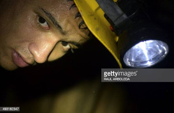 STORY by Ariela Navarro A miner works at an unlicensed gold mine in Segovia municipality department of Antioquia Colombia on May 20 2014 Colombia has...