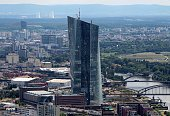 STORY by ESTELLE An overview taken from the top of Frankfurt's Maintower shows the new building of the European Central Bank headquarters under...