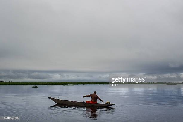 STORY by Hector Velasco A fisherman catches fish in the Paraguay river in Corumba a municipality in the Brazilian state of Mato Grosso do Sul gateway...