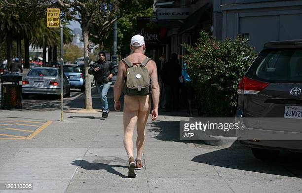 STORY by Hermione GEE LifestyleUSgaynudismlawstravel Naturist Woody Miller walks on Market Street to get to a restaurant in the Castro district of...
