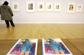 STORY by JeanLouis de La Vaissiere A visitor looks at the 'Drawn Blank Series' by US pop icon Bob Dylan at the Chemnitz museum of art in Chemnitz 18...