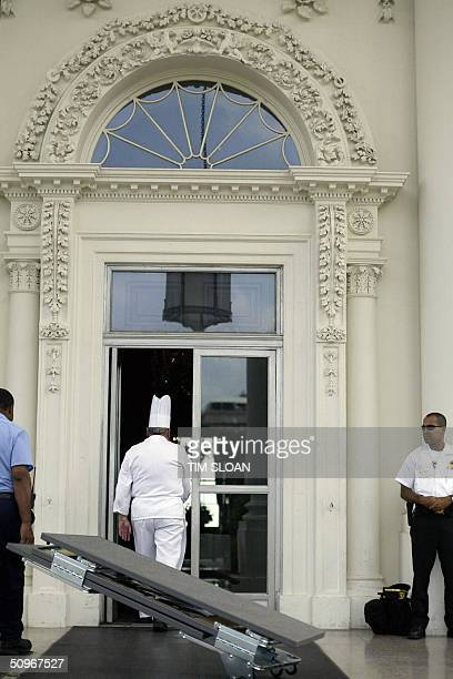 GASTRONOMY by Jerome BERNARD White House pastry chef Roland Mesnier from Bonnay France walks back into the White House through the North Portico...