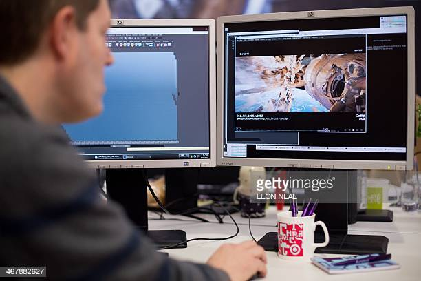 STORY by Katy Lee A technician shows some of the design behind key scenes from the hugely successful film 'Gravity' in the Soho offices of the...