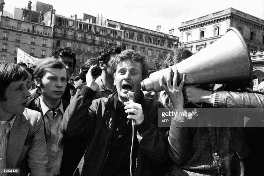 STORY by Kerstin Loeffler FILES Picture taken on May 13 1968 shows Daniel CohnBendit an anarchist student and a 1968 student movement far leftist...