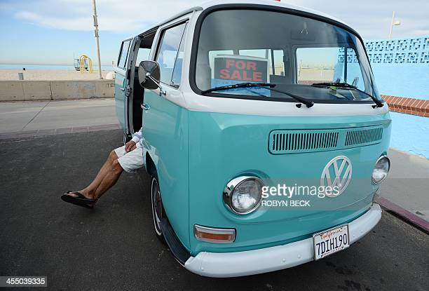 STORY by Leila MACOR LifestyleUStransportautosurf Kombi enthusiast Fred Tisue hangs out in his Volkswagen Kombi in Hermosa Beach California on...