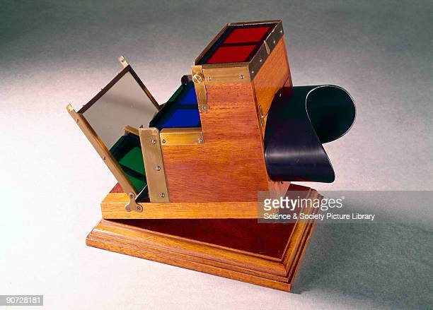 By means of this device patented by Frederick Eugene Ives in 1890 three stereoscopic positives can be viewed exactly superimposed It makes use of the...