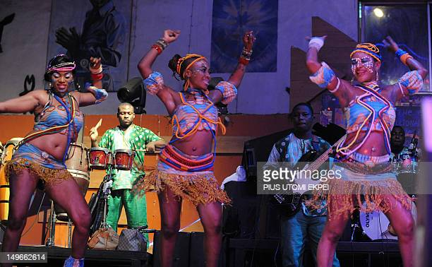 STORY by MJ Smith Femi Kuti's dancers entertain the audience at the New Afrika Shrine in Lagos on July 29 2012 Nigeria marks on August 2 2012 fifteen...