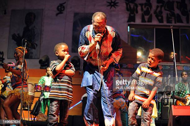 STORY by MJ Smith Nigerian musician Femi Kuti son of legendary afrobeat musician and activist Fela AnikulakpoKuti performs on stage with his children...