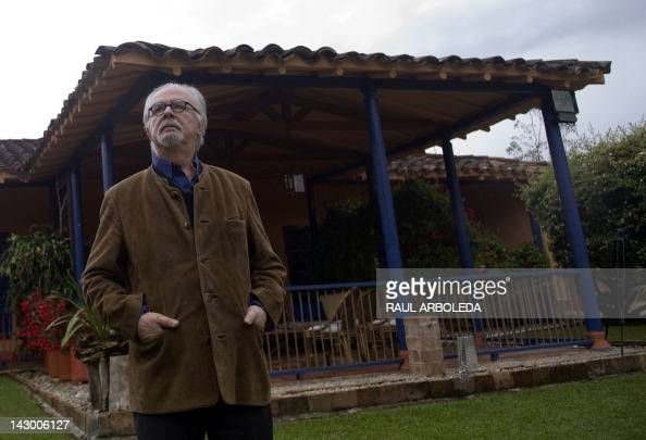 STORY by Philippe Zygel Colombian artist Fernando Botero poses for pictures during an interview with AFP at his home in Rionegro municipality...