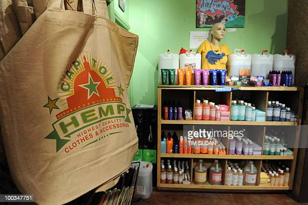 STORY by Rob Lever HealthUSdrugsfarmhempmarijuana Hand bags and bath products are among the many hemp products for sale at the 'Capitol Hemp' store...