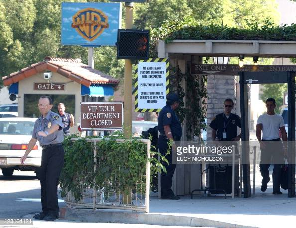 STORY by Romain Raynaldy EntertainmentUSattacks911anniversaryfilmHollywood A US security guard stops traffic at the main entrance to Warner Bros...