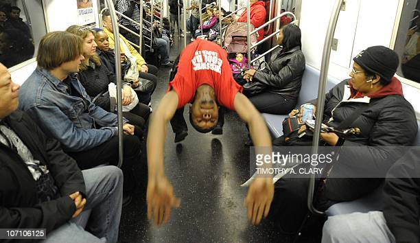 CULTURE by Sebastian Smith New York City Subway dancer Tamiek Steele performs with other members of his dance crew November 23 2010 The dance crew of...