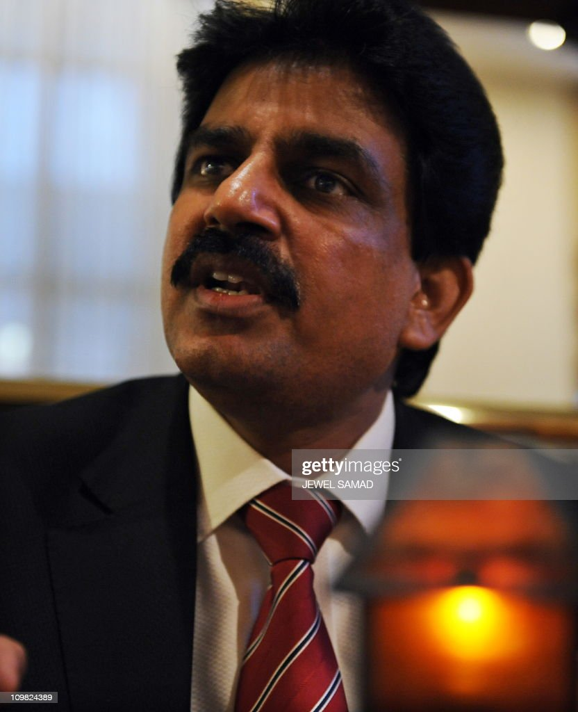 RELIGION by Shaun TandonPakistan's minister for minority affairs Shahbaz Bhatti gestures during an interview with Agence FrancePresse in Washington...