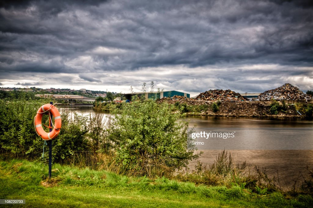 By the riverside : Stock Photo