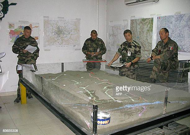 STORY 'AFGHANISTANFRANCEUNREST' by Thibauld Malterre In this photograph taken on November 8 2008 French soldiers of the NATOled International...