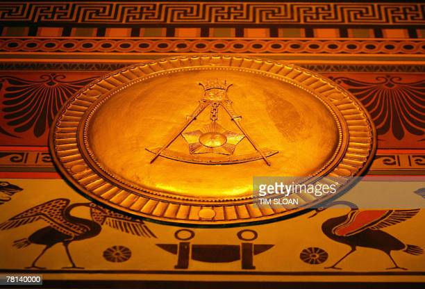 STORY by Virginie Montet EntertainmentUSFreemasonsbooks The Masonic square and compasses symbol is seen on the main floor wall frieze 19 November...