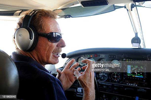 STORY by Yana Marull SwissBrazilian environmentalist and explorer Gerard Moss talks as he flies the small plane he uses for his 'Rios Voadores'...