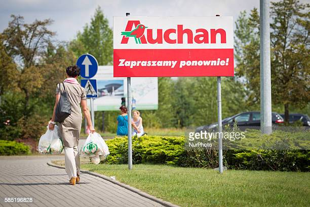 POLAND Bydgoszcz August 02 2016 French retailer Auchan has recently announced its intention te sell its own brand of gluten and lactose free products