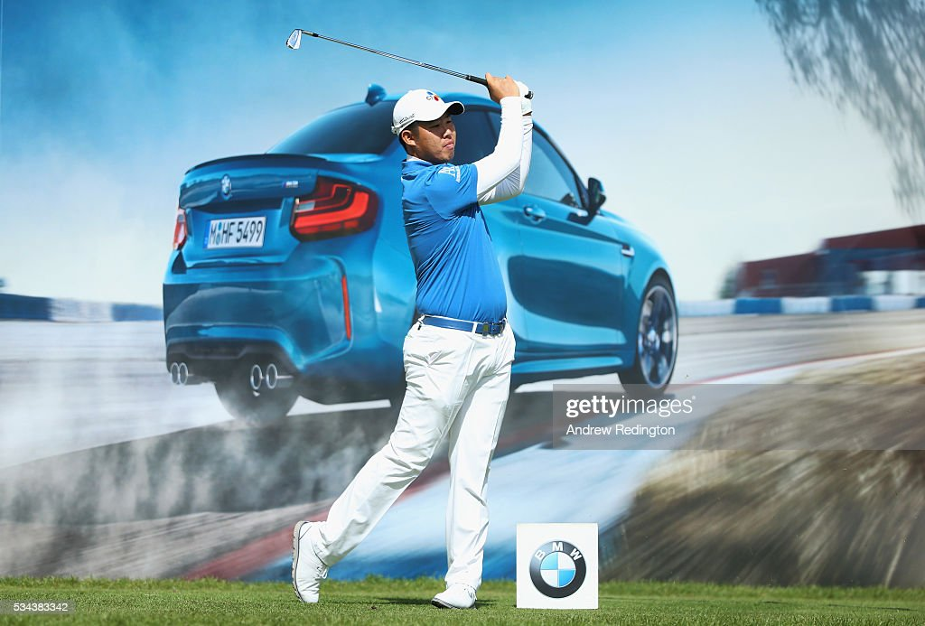 Byeong Hun An of Korea tees off on the 10th hole during day one of the BMW PGA Championship at Wentworth on May 26, 2016 in Virginia Water, England.