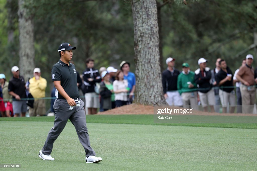 Byeong-Hun An of Korea walks during a practice round prior to the start of the 2017 Masters Tournament at Augusta National Golf Club on April 3, 2017 in Augusta, Georgia.