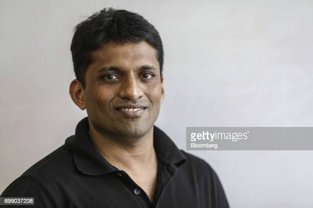 Byju Raveendran founder and chief executive officer of Think and Learn Pvt poses for a photograph at the company's office in Bengaluru India on...