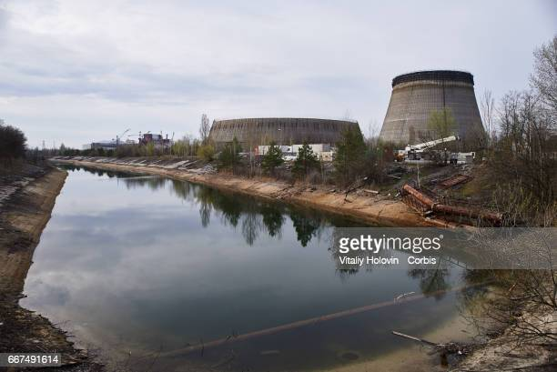 Bypass channel for cooling at the Chernobyl nuclear power plant in the Exclusion Zone Ukraine April 5 2017 The Chernobyl nuclear accident occurred on...
