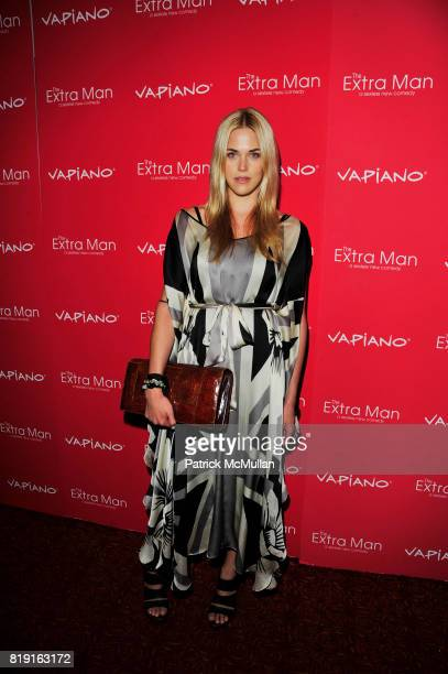Byrdie Bell attends Vapiano hosts the New York Premiere of THE EXTRA MAN red carpet arrivals and afterparty at Village East Cinema and Vapiano NYC on...